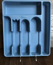 Rubbermaid Blue 2925 Utensil Flatware Silverware Cutlery Tray Drawer Organizer