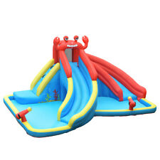 Inflatable Water Slide Crab Dual Slide Bounce House Splash Pool Without Blower