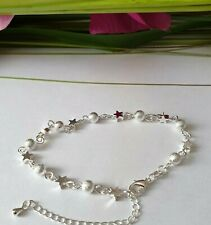 sexy zierliches Armband für Damen Frauen 925 Silber Pl Stern Kugel Geschenk NEU