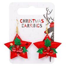 Novelty Xmas Earrings,Fancy Dress Xmas Tree Earrings,Angel,Star Xmas,Jingle Bell