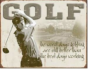 Golf - Worst Days / Best days metal sign 400mm x 310mm (de)