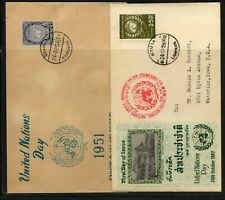Thailand   2  cachet  covers      MS0407