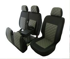 MERCEDES SPRINTER VW CRAFTER 2006-2018 LHD GREY ECO LEATHER Seat Covers 2+1