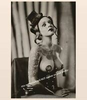 Vintage Sexy Circus Girl PHOTO Tattooed Burlesque Sideshow Freak