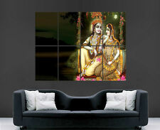 RADHA KRISHNA POSTER RELIGION GOD WALL ART IMAGE LARGE WALL POSTER PICTURE