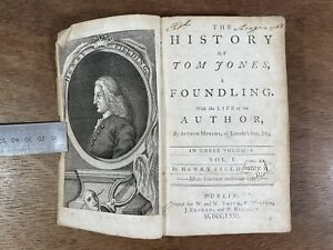 Antique Book; The History of Tom Jones, a Foundling, Henry Fielding, 1766