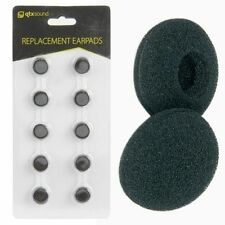 QTX Sound Replacement In-ear Headphone Foam Ear Pad Covers 13mm 10 x Pads Black