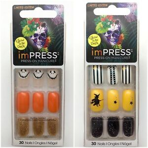 Lot of 2 imPress Press On Nails Halloween Teen Witch 78907 Potion 78908
