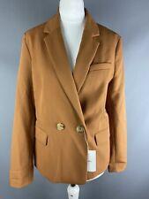 BNWT Bershka (Zara) Size S Jacket UK 8 Tan Brown Blazer Smart Casual Lined