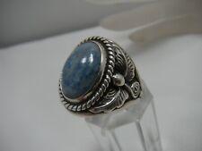 Carolyn Pollack Sterling Silver Denim Lapis Lazuli ring Mens womens sz 10.75