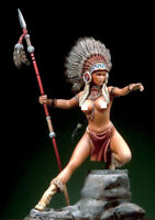 █ Resin 80mm Indian Girl Sexy Female Fighter Unpainted Unassembled MX020