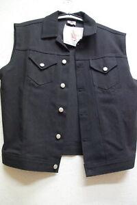 Jeans-Weste schwarz Gothic Black Pistol Gr.S, XL