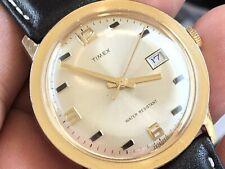 Vintage 1971 Timex Marlin Series Mechanic Men's Watch Serviced New Crown/ Strap