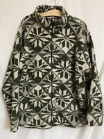Black Mountain Fleece Zip Jacket Coat Size XL Polyester Women's Soft Cozy Green