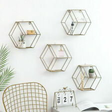 Wall-Mounted Geometrical Storage Shelfs Simple Display Rack  Home Must set 2020