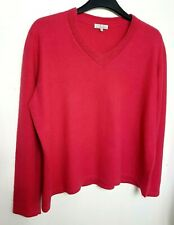 ISLE EWM 100% PURE CASHMERE WOMENS JUMPER SWEATER XL UK 20-22 PINK  #12/29