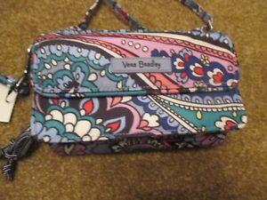 Vera Bradley KONA PAISLEY RFID ALL IN ONE CROSSBODY WRISTLET Handbag Purse