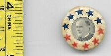 """vintage 1901 """" WILLIAM McKINLEY """" pin back ( .75"""" ) stars"""