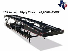 Texas Pride 8½' x 53' Double Deck Six Car Hauler Trailer, 48k gvwr