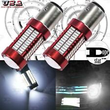 1157 White Projector Lens 106SMD LED Bulbs for Turn Signal Parking Corner Lights
