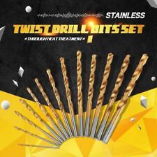 13pcs 1.5-6.5mm High Speed Steel HSS Titanium Coated Drill Bits Shank Set Tool
