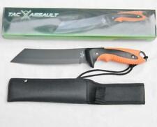 TAC XTREME survival knife TA-0400R black/orange rubber handle, nylon sheath; NIB