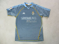 Adidas Real Madrid Soccer Jersey Adult Small Blue Orange Futbol Football Mens *