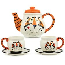 KELLOGG TONY THE TIGER VINTAGE TEA SET FIVE PIECES NIB