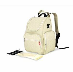 Multi-use Large Mummy Baby Diaper Nappy Backpack Changing Travel Bag White