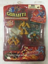 Gormiti 1st Series 4-figure Blister Set Featuring Gheos , Earth Tribe