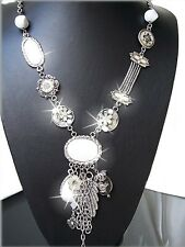 Kette Halskette Lang Bettelkette Retro Vintagekette Silber SCHMUCK Damen K832