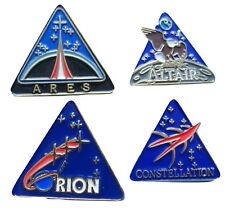 NASA enamel PIN Lot of 4 vtg ORION Altair Ares Mars Constellation