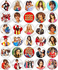 30 x High School Musical Party Edible Rice Wafer Paper Cupcake Toppers
