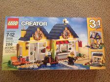 LEGO CREATOR  31035 BEACH HUT BUILDING BLOCK PLAYSET NEW 2 minifigures