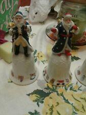 Set of 6 1993 Lenox Santa Bells