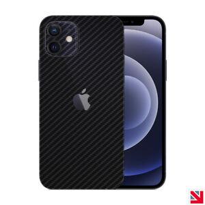 CARBON Fibre BLACK iPhone 12 Skin Decal Vinyl Sticker Wrap