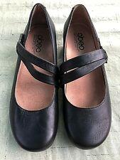 Abeo BioSystem Black Leather Talia Women's Mary Janes Flats Shoes Sz 7.5 N