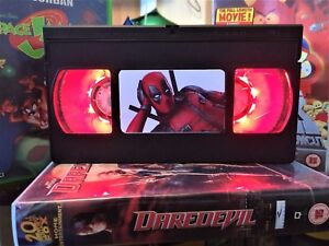 Deadpool Marvel Retro VHS Night Light, Desk Lamp, Led, Bedroom Lamp, TV, Kids