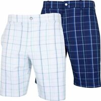 Callaway Golf Fashion Plaid Flat Front Mens Stretch Golf Shorts