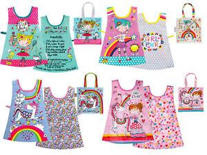 Rachel Ellen designs, PVC Wipe Clean Childrens Kids Aprons, Tabards and Bags