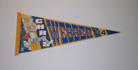 1990's WARRIORS Chris Webber ROOKIE Era caricature pennant rare Golden State