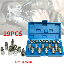 "19PCS Torx Socket and Bit Set 1/2"" E Type Chrome Vanadium Steel Repair Hand Tool"