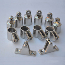 Boat/Yacht 3 Bow Bimini Top Fittings Fit 1'' S.S 316 Polished Marine Top