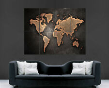 EARTH MAP WORLD POSTER PICTURE WALL IMAGE  ART PRINT LARGE