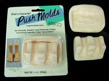 AMACO Polymer Clay PUSH Mold - FEET - 2 part mold DIMENSIONAL! New Vintage Stock