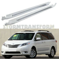US Stock Side Step for Sienna 2011-2020 Running Board Nerf Bar Blizzard Pearl