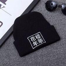 KPOP Fashion BTS Knitted Hip-Hop hat Warm Cap unisex Winter Cotton Beanie Hats