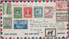 NEWFOUNDLAND Teranova -  POSTAL HISTORY - COVER to SCOTTLAND  : FISH / DOG  1948