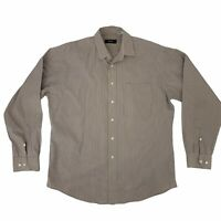 Hugo Boss Dress Shirt Mens Size 16 34/35 Gray/White Long Sleeve Collared Cotton*