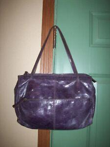 HOBO International Purple Leather Satchel Handbag